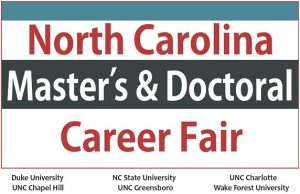 NC Master's and Doctoral Career Fair Logo